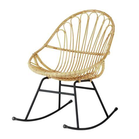 fauteuil a bascule maison du monde fauteuil 224 bascule en rotin p 233 tunia maisons du monde