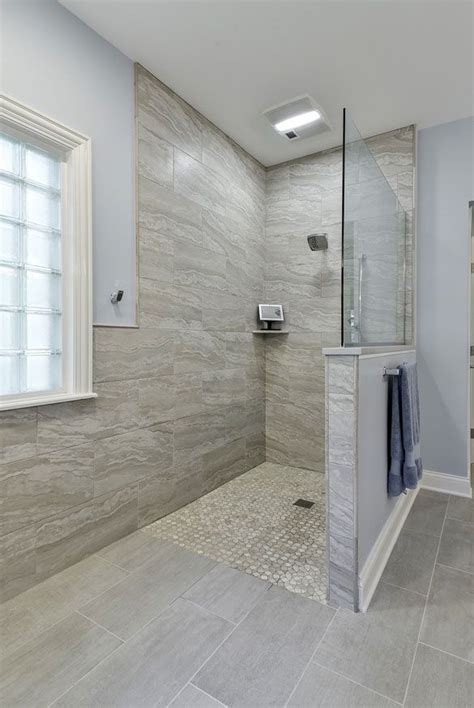 barrier  curbless shower ideas  images