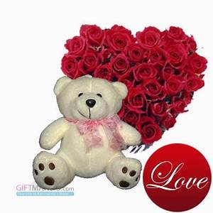 Cute teddy bears with roses | Nice Pics Gallery