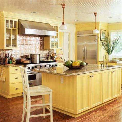 yellow country kitchen 15 bright and cozy yellow kitchen designs rilane 1209