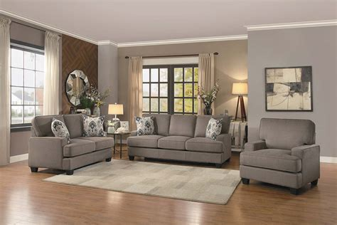 Home Decor Kenner : Brown Fabric 8245br-sofa-set