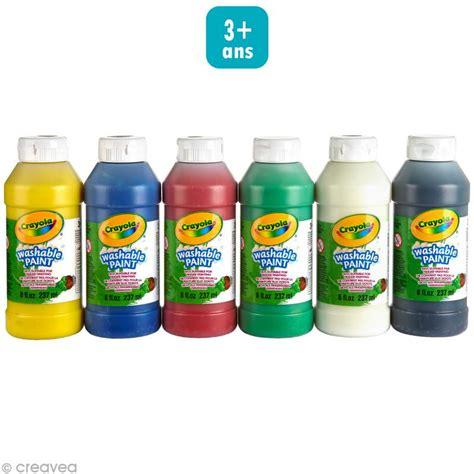 peinture cuisine lavable peinture lavable crayola x 6 gouache bidon creavea