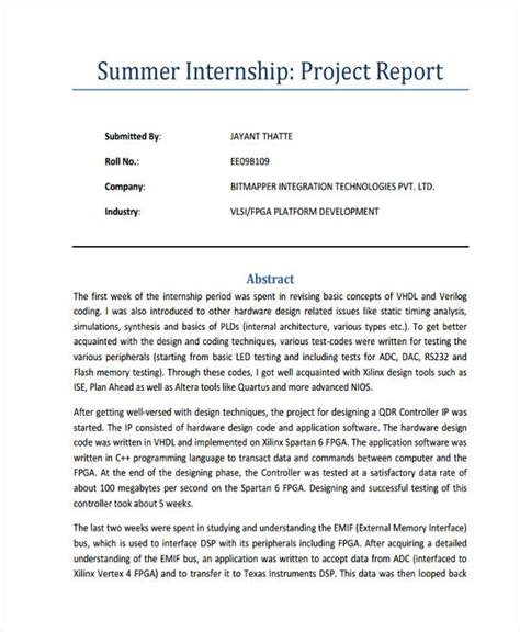 How To Write A Successful Resume Exles by Internship Report Format For Engineering All Engineer Photos