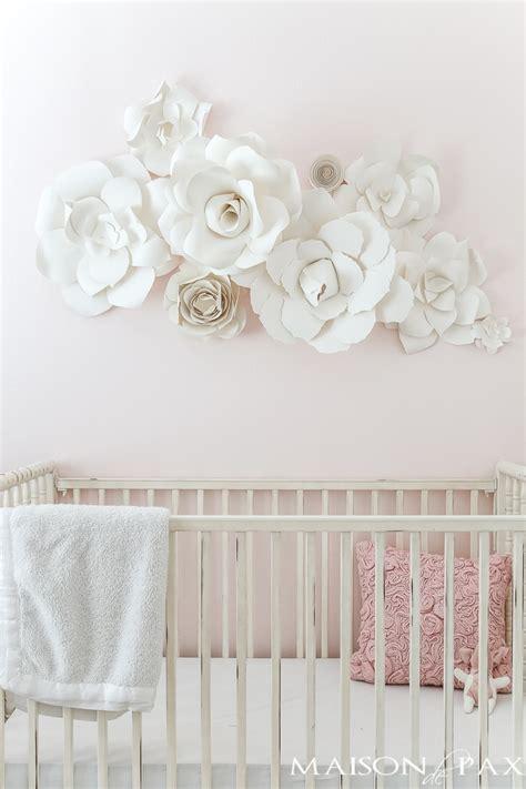 Wall Flowers Decor - paper flower wall in the nursery maison de pax