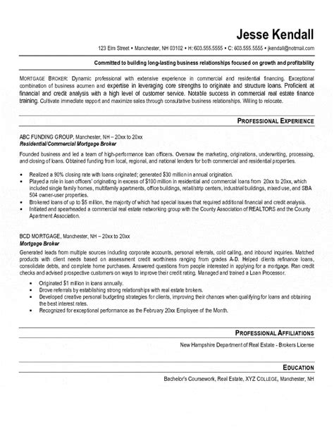 Resume Template Mortgage Loan Officer by Mortgage Broker Resume