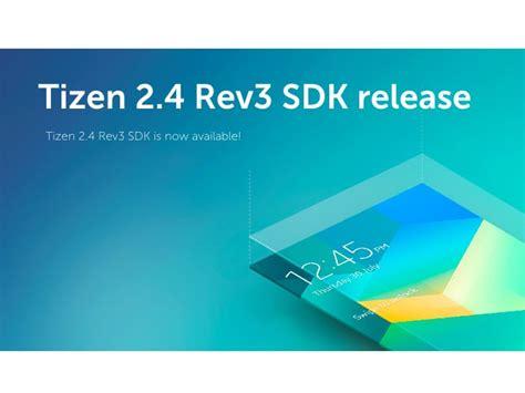 tizen sdk 2 4 rev 3 released tizen experts