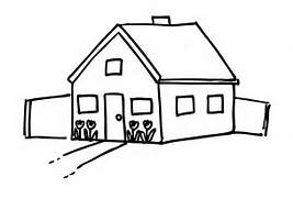 Stick Figure House House image jpg  Construction House Clip Art Black And White