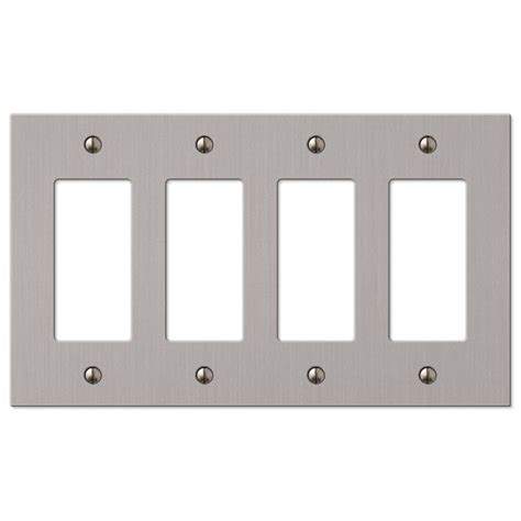 hton bay elan 4 decorator wall plate brushed nickel