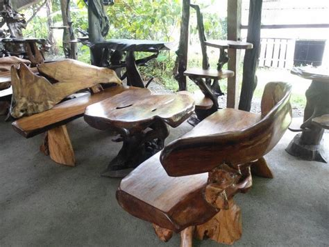 garden bench set   rosewood philippines driftwood