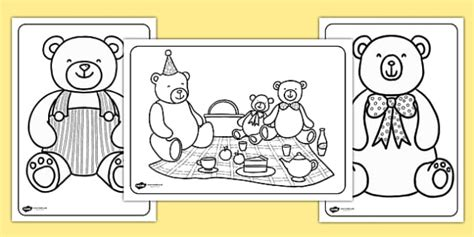 Teddy Bears Picnic Colouring Pages