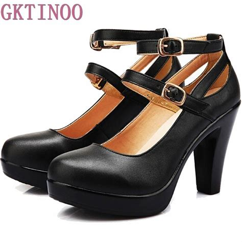 comfortable heels for plus size genuine leather high heels ol comfortable black