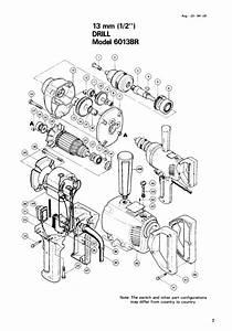 Makita 6013br Spade Hammer Drill Instruction Manual