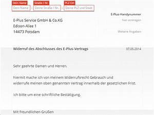 Kann Man Von Einem Vertrag Zurücktreten : eplus widerruf vorlage download chip ~ Orissabook.com Haus und Dekorationen