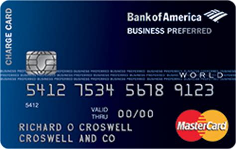 bank of america travel center phone number business preferred world mastercard 174 from bank of america