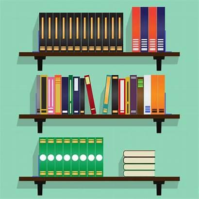 Vector Books Illustration Bookshelves Row Bookshelf Premium