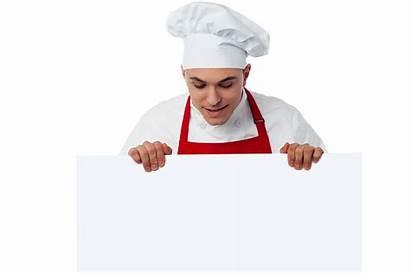 Chef Banner Holding Transparent Purepng