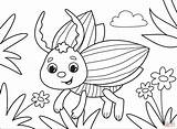 Coloring Bug sketch template