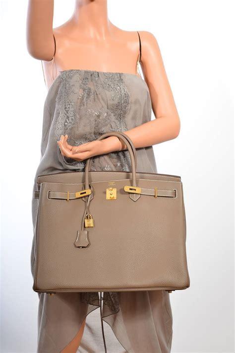 hermes birkin bag etoupe 35cm gold hardware amazing combo