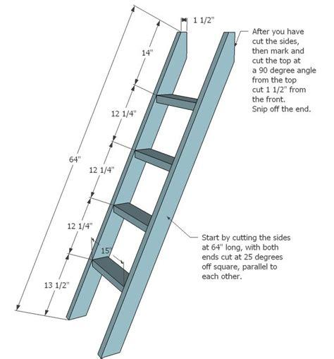 bunk bed ladder brackets ladder   ladder cut  xs  long   ends cut