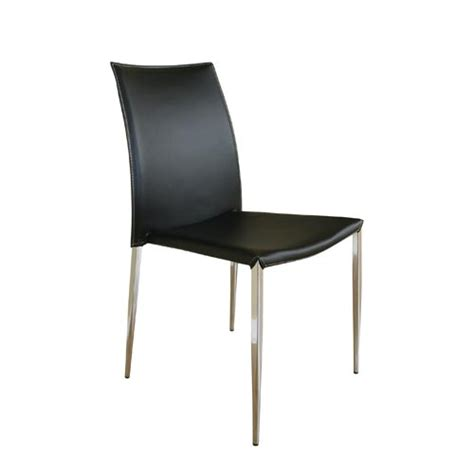 modern black leather dining chairs bellacor modern