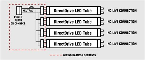4 l wiring harness for led t8 socket by keystone