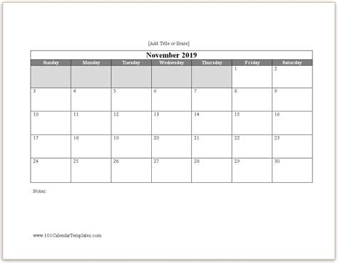 word calendar
