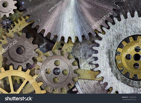 Clock Mechanism Gears Cogs Macro Stock Photo 172544279