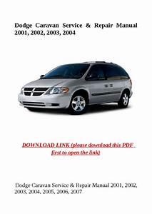Dodge Caravan Service  U0026 Repair Manual 2001  2002  2003