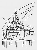 Frozen Castle Coloring Pages Ice Disney Drawing Printable Simple Movie Print Castles Arendelle Drawings 1000 Disneyland Filminspector Chateau Cartoon Paintingvalley sketch template