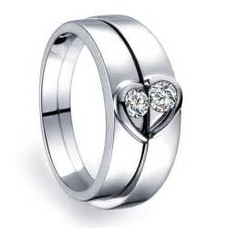 mens cheap wedding bands unique heart shape couples matching wedding band rings on