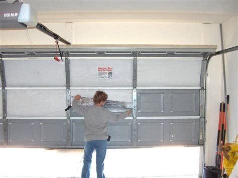 what type of insulation to use in garage is it worth insulating your garage door