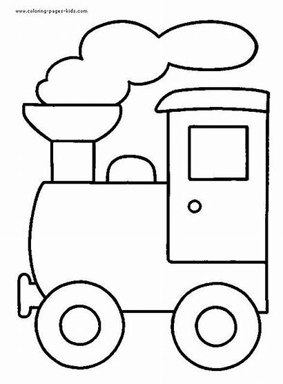 Coloring Pages Train Transportation Printable Templates Quilt