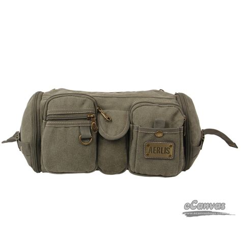 travel waist bag army green unique fanny pack black