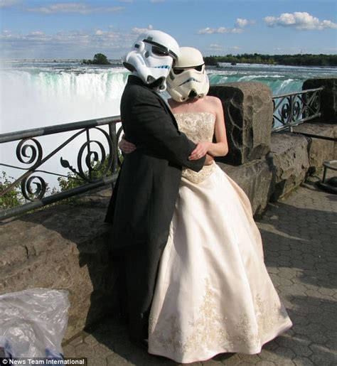 Star Wars Wedding Couple Celebrate Their Marriage Dressed. Steel Engagement Rings. Telephone Rings. Dark Devotion Wedding Rings. Cheap Rings. Amythyst Engagement Rings. Multiple Band Wedding Rings. Cabochon Sapphire Engagement Rings. Consecutive Rings