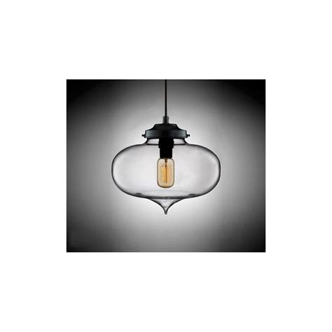 edison industrial minaret modern pendant light clear