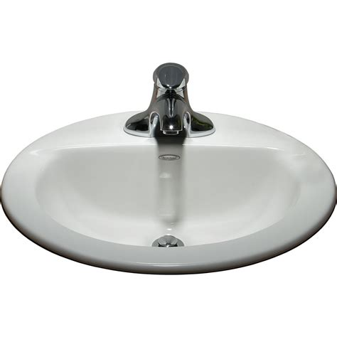 American Standard 0346403020 White Topmount Oval Bathroom