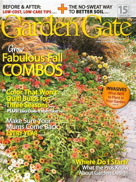 garden gate magazine orange exchange garden cutting