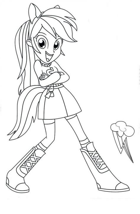 pony equestria girls  pintar  imprimir equestria girls imprimir  p