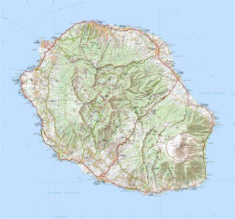 La Réunion Carte Géographique Monde by Info Carte Reunion