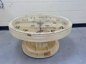Table Basse Horloge : 1001 id es que faire avec un touret des inspirations r cup ~ Teatrodelosmanantiales.com Idées de Décoration