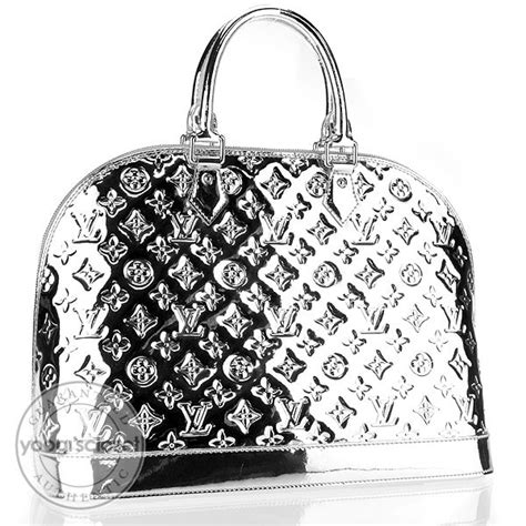 louis vuitton limited edition silver monogram miroir alma