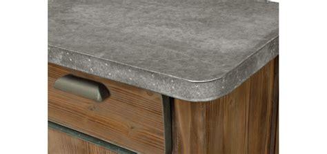 meuble cuisine bois et zinc meuble cuisine bois et zinc ilot de cuisine bois et zinc