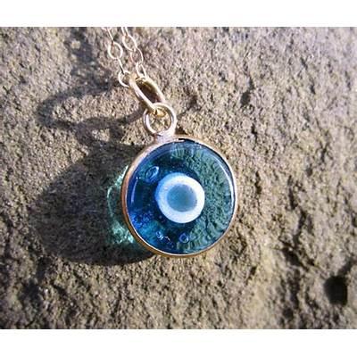 Nazar Evil Eye Amulet Necklace by FleurDeLisJewelry on Etsy