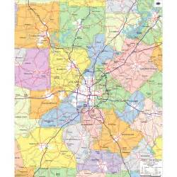 Metro Atlanta Georgia Zip Code Map