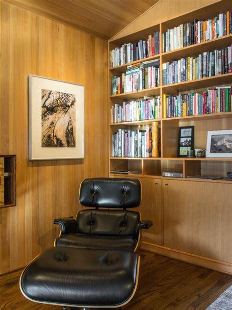 mid century home library hgtv