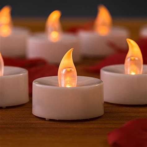 automatic tea light candles battery operated candles bonus 100 faux rose petals 1