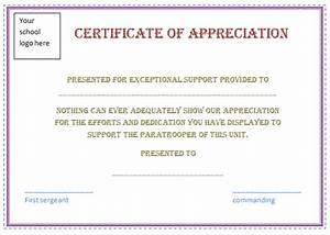 appreciation certificate template free certificate templates With certification of appreciation template