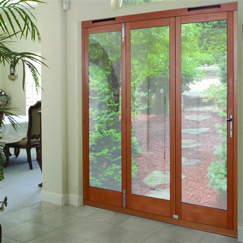 tri fold patio door 3 folds oak veneer clear glazed