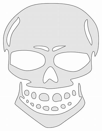 Skull Wicked Clipart Stencil Transparent Webstockreview Graphics