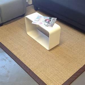 tapis en sisal ganse personnalisable couleur naturel With tapis jonc de mer avec canapé assise haute